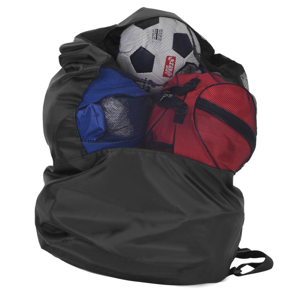 Pallacanestro del cerchio di pallacanestro del calcio Palline della rete del trasporto Carry Net Bag Palle di sport Pallavolo All'aperto Maglia di stoffa di Oxford Borsa di immagazzinaggio con coulisse