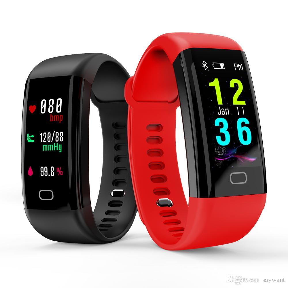 Nuovo arrivo F07 schermo a colori OLED Bluetooth braccialetto intelligente banda IP68 impermeabile Swim frequenza cardiaca Smartwatch Fitness orologio per Android iOS