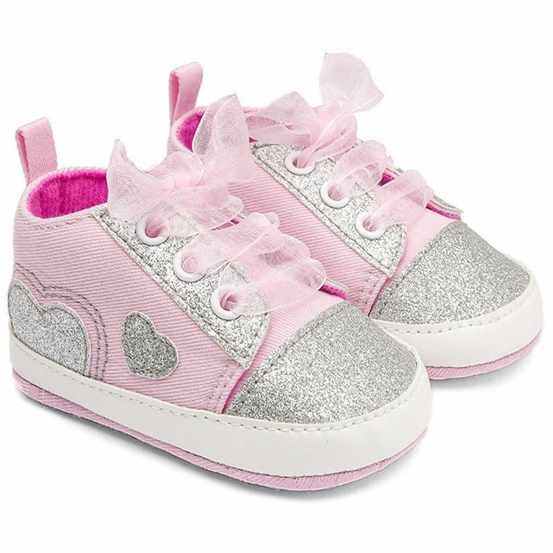 2018 Hot Newborn Canvas Infant Sneakers Sell Well Baby Girl Heart-shaped Toddler Shoes Zapatos Sapatos Chaussures De Menino
