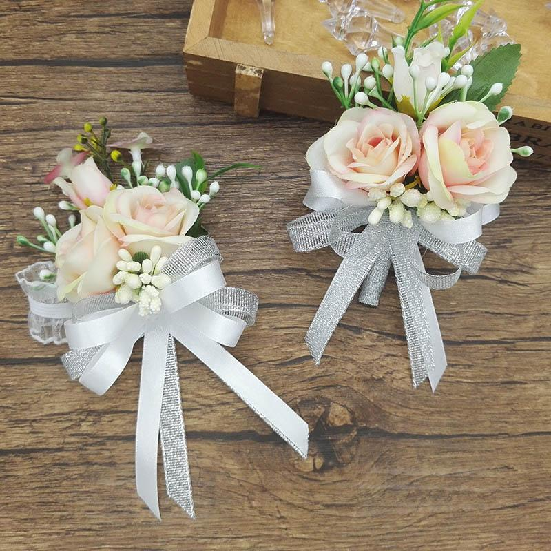 2018 2017 new white pink party corsages prom groom bride wedding 2018 2017 new white pink party corsages prom groom bride wedding flower wrist corsage boutonniere from sophine12 2503 dhgate mightylinksfo
