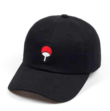 100% хлопок японское аниме Наруто папа шляпа Учиха семейный логотип вышивка бейсболки черный Snapback шляпа хип-хоп для женщин мужчин