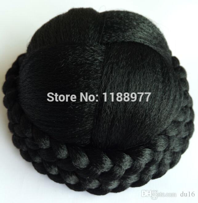68g big size chignon hairpiece pezzi di capelli updos / capelli sintetici panino / estensione della treccia capelli finti panino XL-A0014 freeshipping