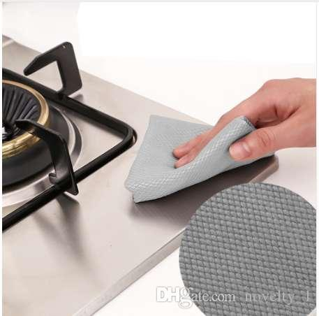 Sinland Microfiber Cleaning Cloth for Stainless Steel Appliances Wine Glass