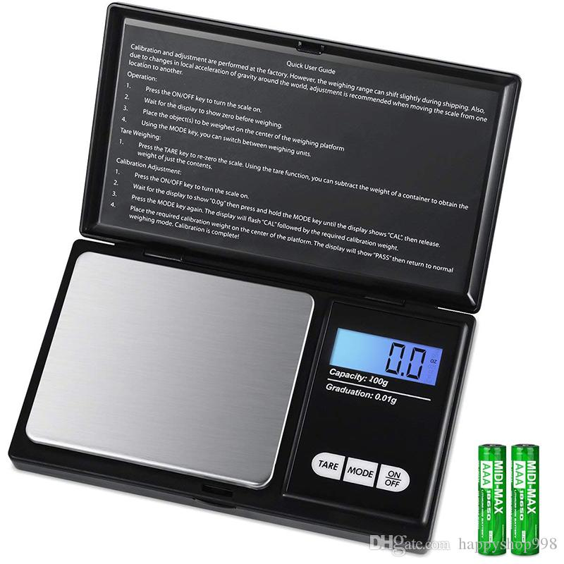 Accurate Digital Mini Scale 100g 0.01g Pocket Jewelry Scale Electronic Smart Scale with 7 Units LCD Backlit Display Tare Function Auto Off