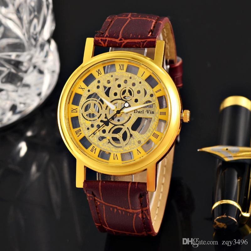 NOVA Moda Belt relógio dos homens Student Hollow Quartz Watch