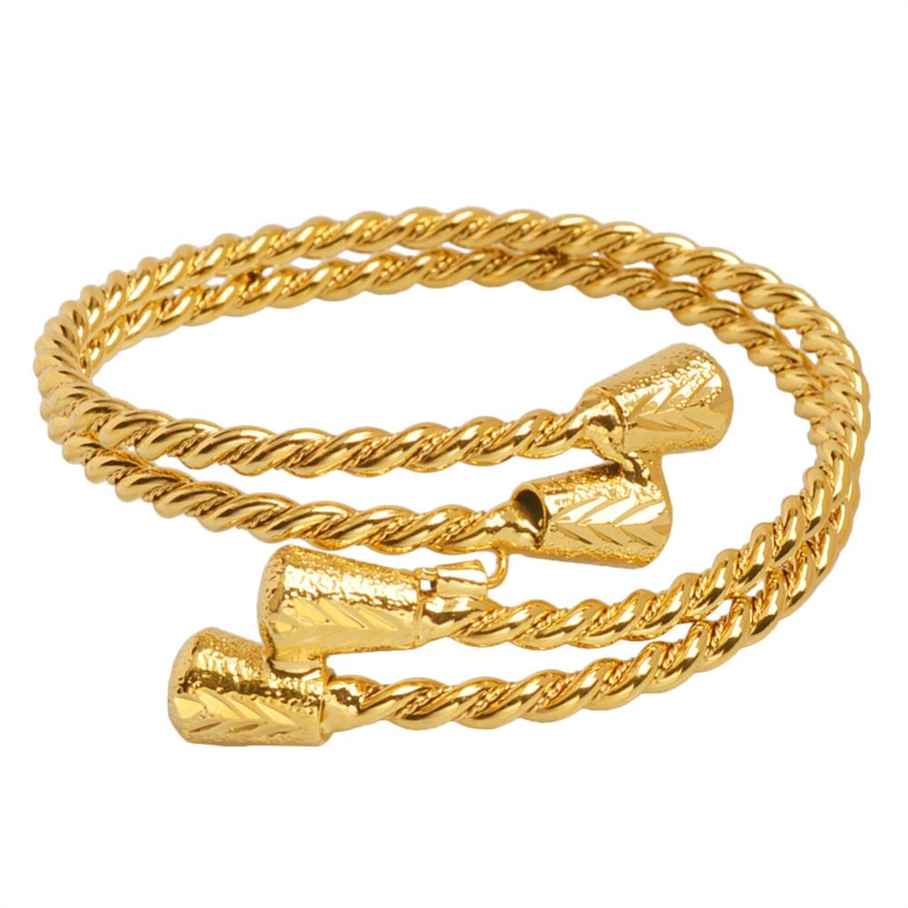 8a9bd1bc0 2018 New Gold Color Arab Dubai Bracelet Ethiopian Bangle African  Accessories for Women Jewelry Gifts #J0978