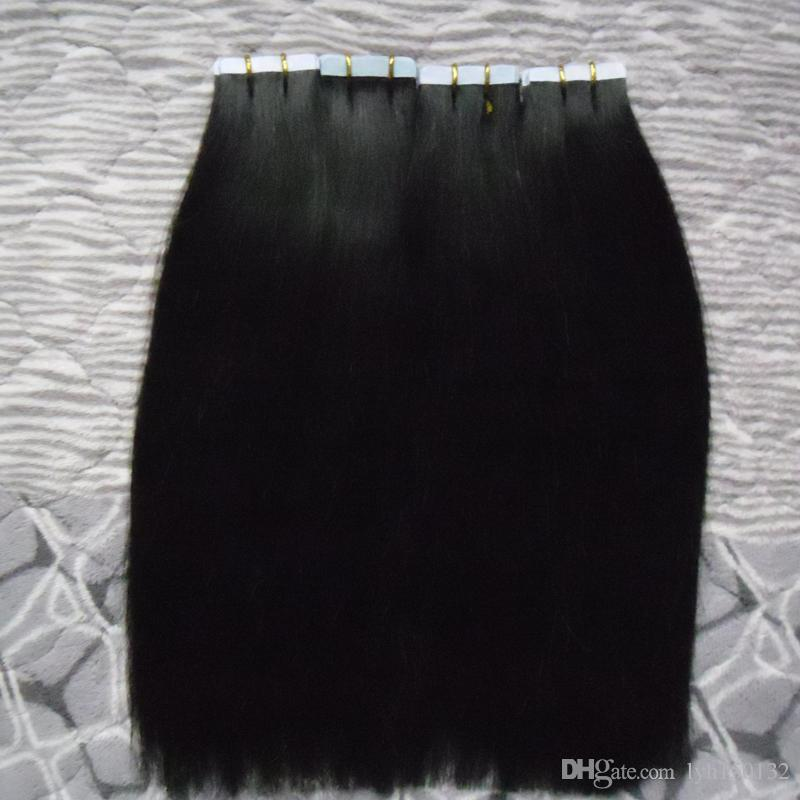 """Tape In Human Hair Extensions 200G Tape in Remy India Hair Extensions 80pcs Apply Tape Adhesive Skin Weft Hair Straight 18"""" 20"""" 22"""" 24"""" 26"""""""