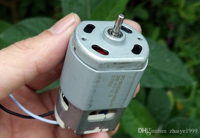 2PCS 12500 RPM 이중 볼 베어링 보상 유형 카본 브러시 12- 폴 로터 AC220v (정류기) 소형 전기 도구 모터