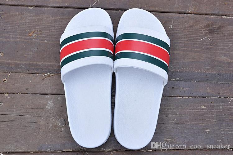 2019 Pantofole di design più recenti Pantaloni attillati sandali da uomo a righe scivolosi Pantofole estive antiscivolo pantofole infradito
