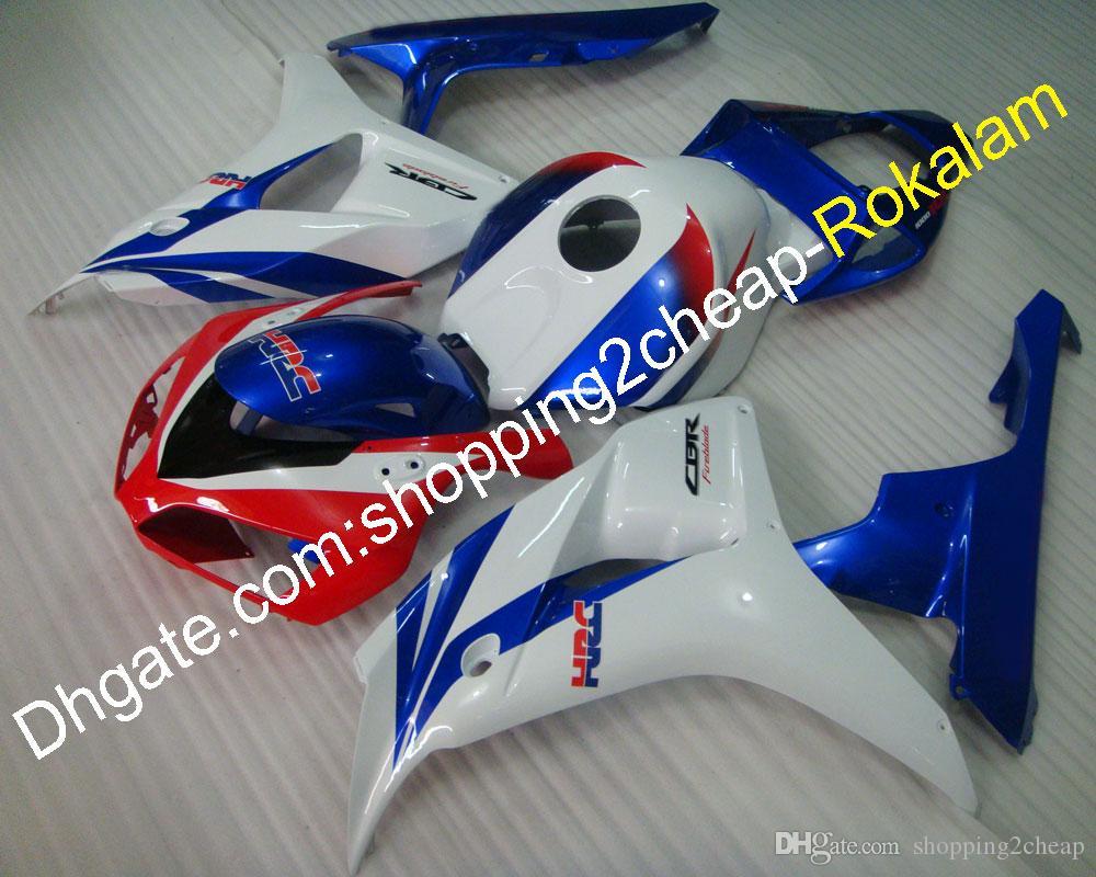 Hot Sales,Motorcycle Fairings For Honda 06 07 CBR1000RR 2006 2007 CBR1000 RR Red White Blue ABS Fairing Kit (Injection molding)