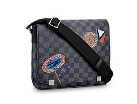 656a112aef 2018 Louis Vuittondistrict Badge Black Chessboard Bag Men Shoulder Bag  Briefcase Top Quality Shoulder Bags Gucciluxury Crossbody Baglv From ...