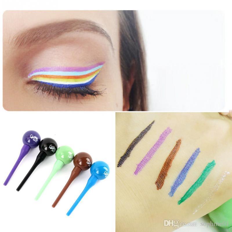 Comercio al por mayor Nueva Llegada Lollipop Forma Mujeres Belleza Cosmética Impermeable Delineador Líquido Eye Liner Lápiz Lápiz Maquillaje 12G