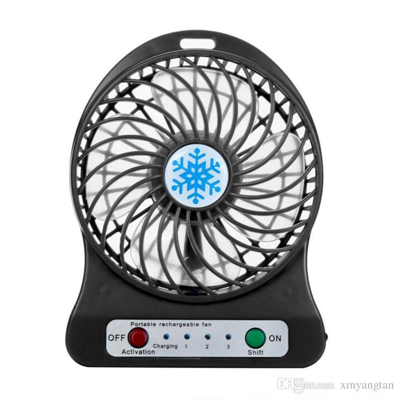 2018 Портативный мини-вентилятор USB LED свет для охлаждения воздуха, небольшой рабочий стол вентилятор 18650 аккумулятор для портативных ПК вентилятор охлаждения вентилятор на USB-устройство