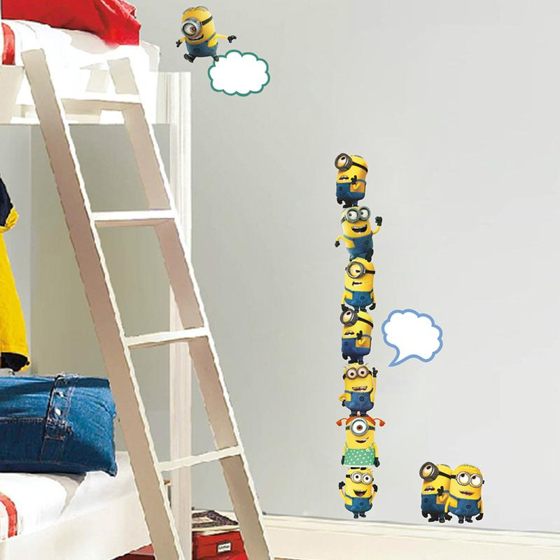 Large Minions Despicable Me Wall Sticker Crack Art Decal Children Bedroom Decor