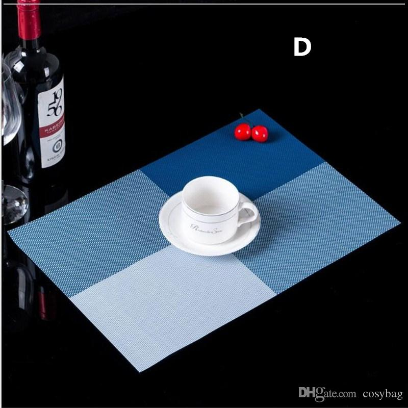 PVC Placemat Non-Slip Plastic Table Mat Water-proof Dining Place Mats Plate Dish Coaster Kitchen Pads Accessories