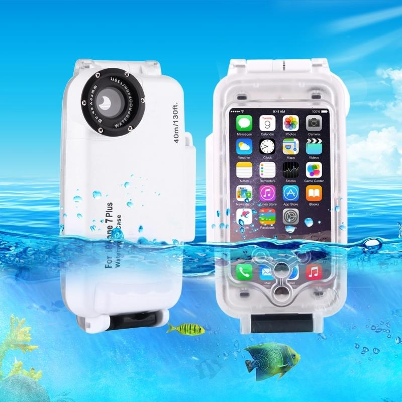 For Iphone 7 Case Waterproof 40m /130ft Underwater Camera Housing Photo Taking Luxury Waterproof Diving Case for Iphone 7 Funda Coque