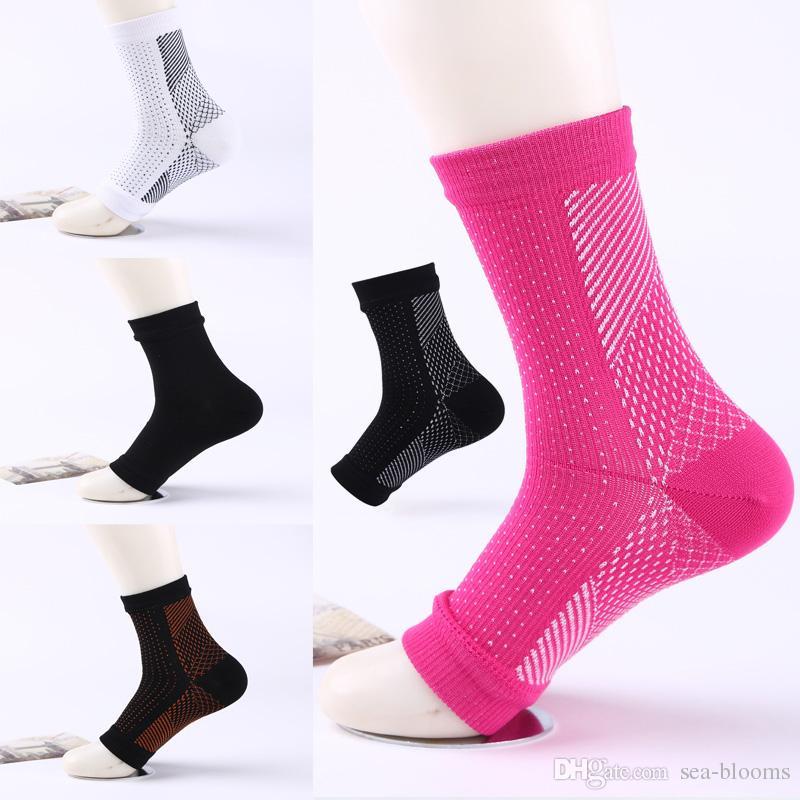 Nuovo stile compressione piede caviglia angelo manica anti-fatica compressione manica calzino calzino per caviglia sollievo gonfiore 6 stili libero dhl g461q
