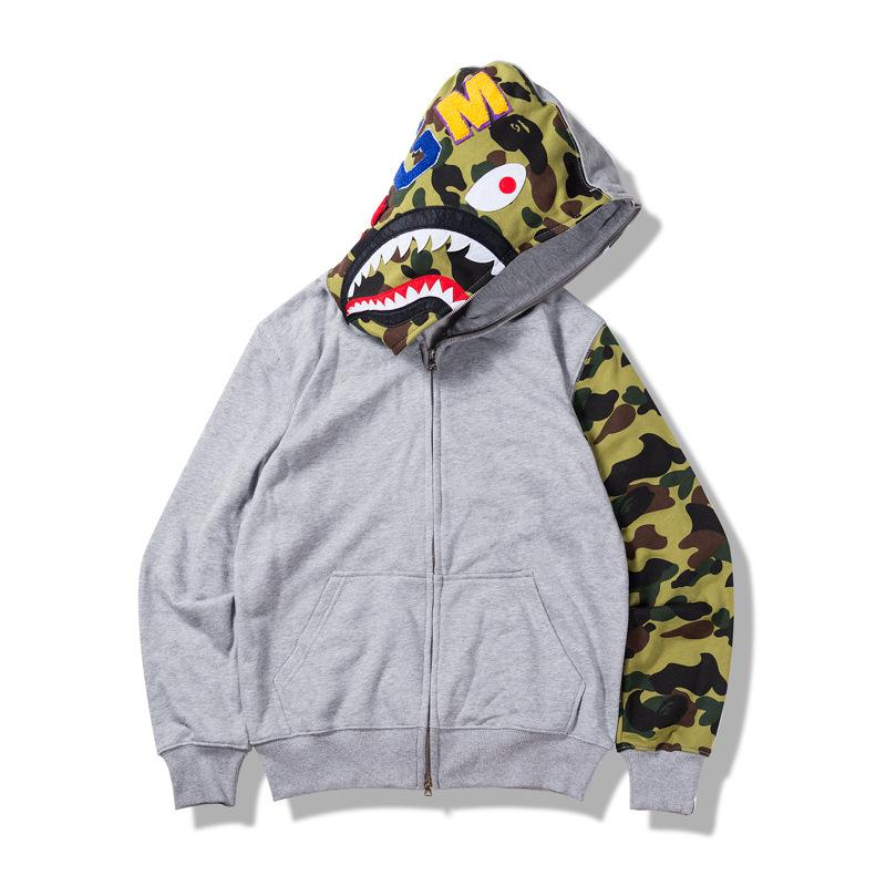 Camouflage thin sweater Casual hats for men and women Cotton street clothes coat Fashion cardigan Sport coat
