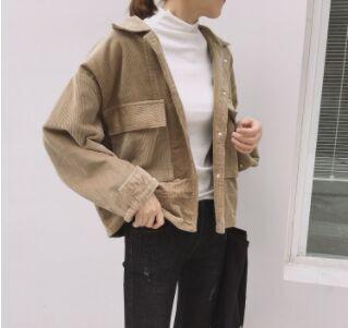 Manteau Jacken Korean Umlegekragen Auf Winter Frauen Baumwolle Fashion Bomber 2018 Vintage Von 45 Beenni33 Langarm Femme Großhandel Damen LjMGpUzqSV