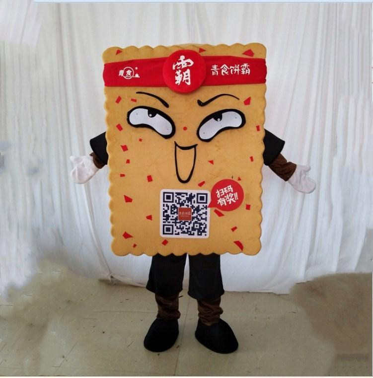 Biscoito Mascot Costume Cookie Party Dress Tamanho adulto Frete Grátis