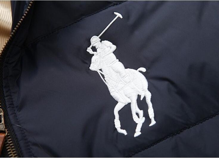 Großhandel 2018 Neue Herren Daunenjacke Winter Amerikanische Flagge Britische Flagge Daunenjacke Herren Dicken Kurzen Großen Business Mantel Von