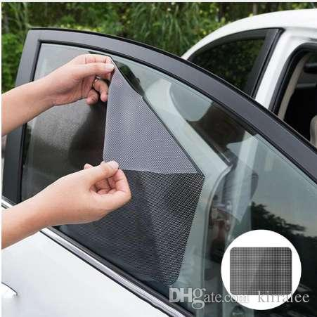 Car Window Shades >> 42x38cm Diy Car Sun Shades Film Sun Protection Window Cover Black Pvc Sunshade Side Window Shield With Small Holes Car Window Shade Car Window Shades