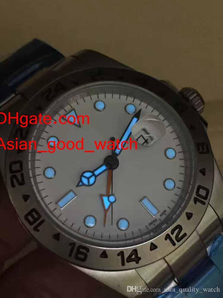 Hombres asia_quality_watch Watch 42mm Explorer 216570 Asia 2813 Movimiento pulsera mecánica de acero inoxidable de acero inoxidable reloj de reloj