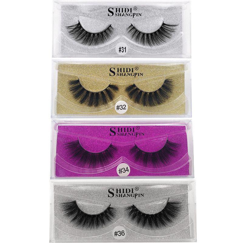Nouvelle arrivée 3d cils de vison épais vrais visons cheveux faux cils Eye Lash maquillage extension faux cils 7 Styles