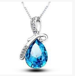 Trend Accessories Angel Tears Drop Crystal Pendant Ornaments Necklace Sets