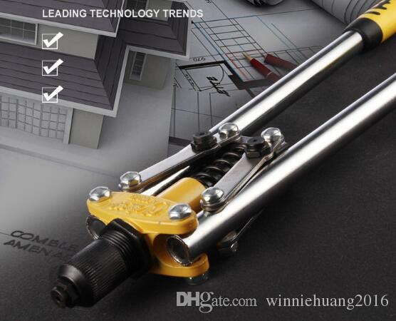 Free Shipping 1PCS Industrial Grade Perforated Hand Riveter Gun Manual Blind Rivet Nut Pull Nail Puller Pilers Gun Hand Tools