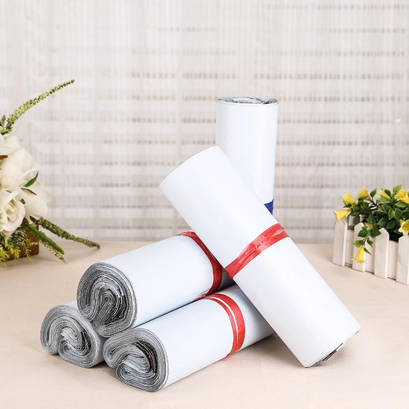 50pcs/Lot White Courier Bag Courier Envelope Shipping Bags Mail Bag Mailing Bags Envelope Self Adhesive Seal Plastic Pouch