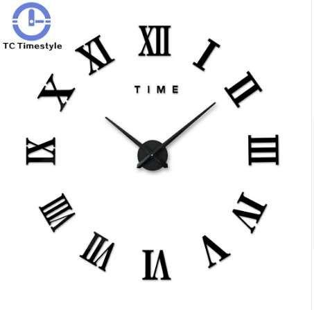 3d Большие настенные часы римские цифры зеркало стикер стены DIY гостиная главная декор стены мода часы наклейки