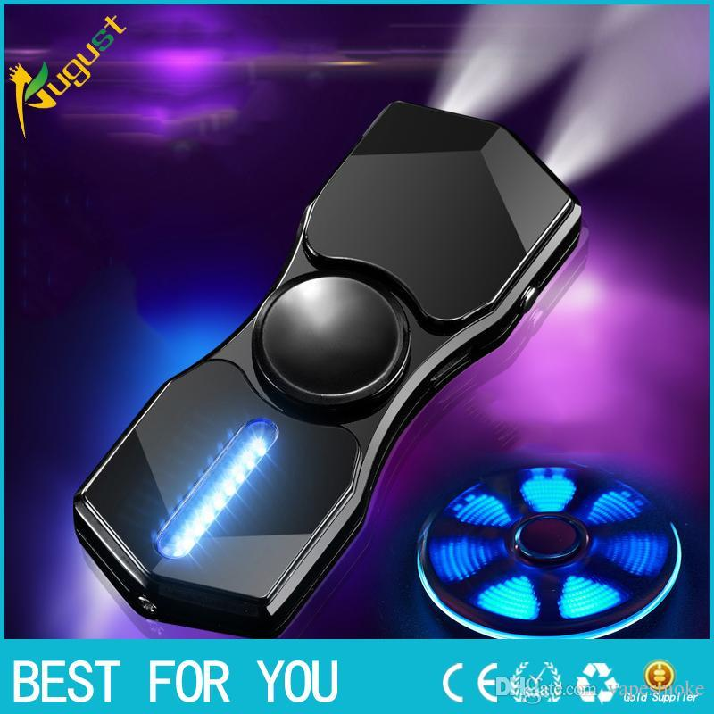 2017 toy Electronic Handspinner USB Charging Metal Cigarette Fingertip Gyro Heat Wire Lighter Finger HandSpinner LightersSpinner
