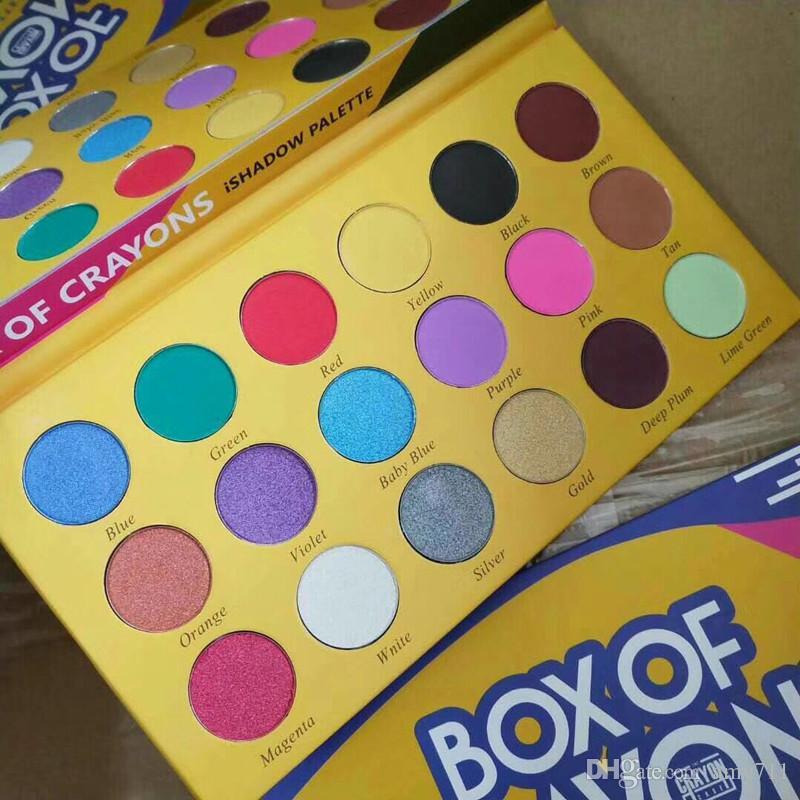 새로운 메이크업 팔레트! 크레용의 상자 화장품 eyeshadow 팔레트 18 색상 ishadow 팔레트 쉬머 매트 아이 뷰티 DHL 배송