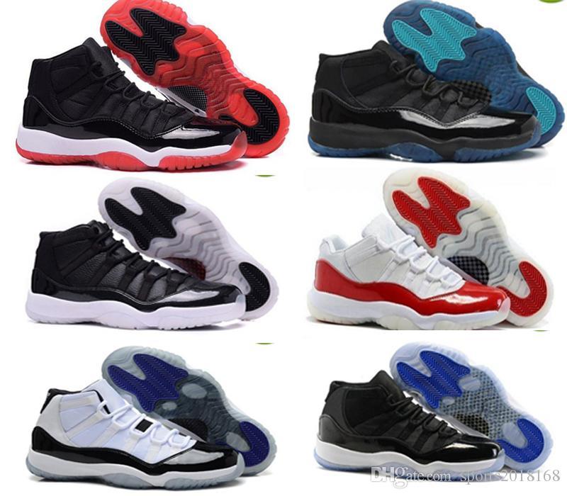 Tasarımcı ayakkabı 11 11 s Uzay Reçel Bred Concord Basketbol Ayakkabı Erkekler Kadınlar 11 s Spor Kırmızı Midnight Lacivert Gama Mavi 72-10 Sneakers ayakkabı