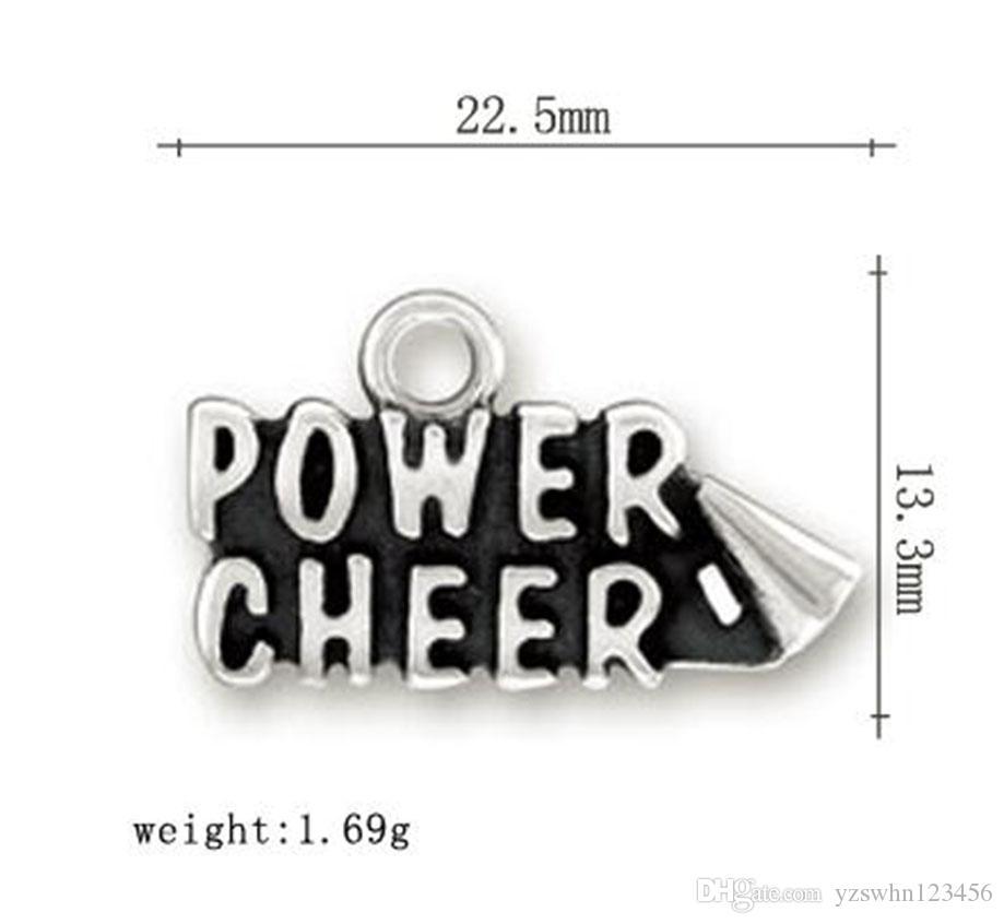 Encantos de la palabra de la alegría de la energía de la letra de DIY para la joyería de las pulseras