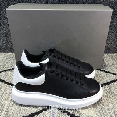 À la mode style Sneakers Chaussures en cuir Casual Hommes Femmes Loisirs Entraîneur White Velvet Low Top Skate Shoe