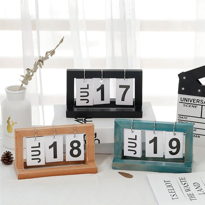 Party Favors Vintage Stil Perpetual Kalender DIY Kalender Handwerk Büro Schule Dekoration Tapeten Geschenke