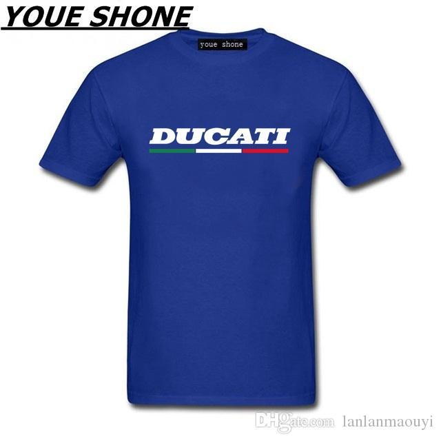 T-shirt da uomo Ducati Superbike Italy Corse Mck Summer Uomo Tshirt da uomo maniche corte DUCATI T-shirt 100% cotone stampato