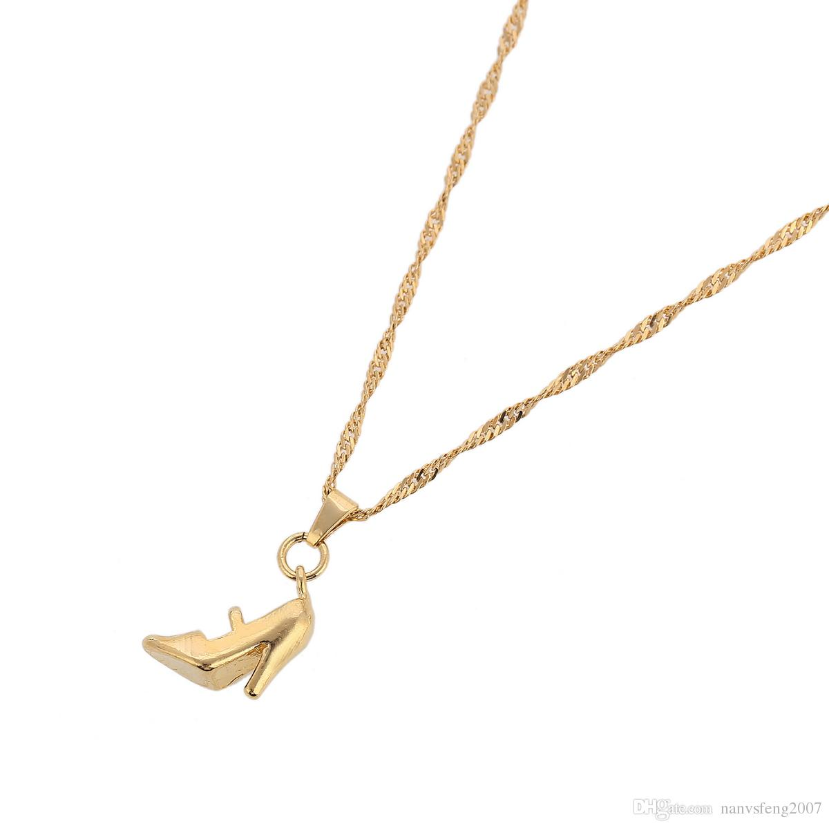 Tiny High Heel Pendant Necklace Perfect Gift High-heeled Shoes Cute Necklace Jewelry