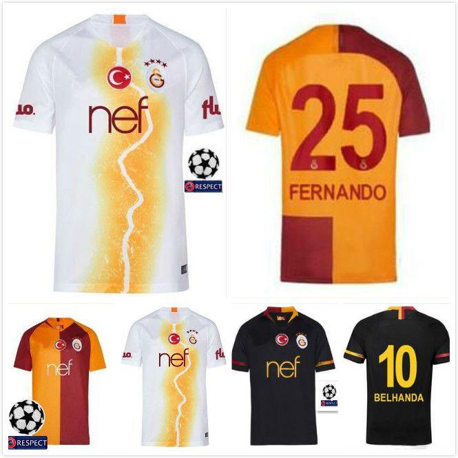premium selection 139ad 249e6 2019 Best!! 2018 2019 New Galatasaray Soccer Jersey Home Champions League  18 19 Away 3rd CIGERCI BELHANDA FERNANDO FEGHOULI FOOTBALL Kit SHIRT From  ...