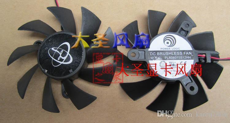Neue original XFX HD6770 HD6750 PLA08015S12HH TCM8015-12RF 12 V 0,35A grafikkarte fan Kapitän 4,2 cm durchmesser 7,5 cm tonabstand