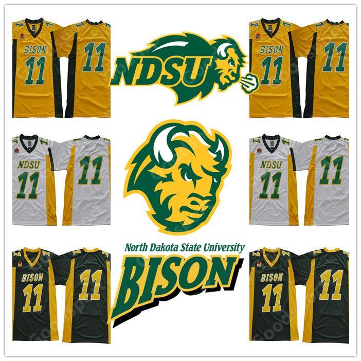 HEISSE NEUE North Dakota State University BISON NCAA Jersey 11 Wentz Fußball Jerseys billig Carson Geschenk Retro Sammlung Sport HEISSE NDSU