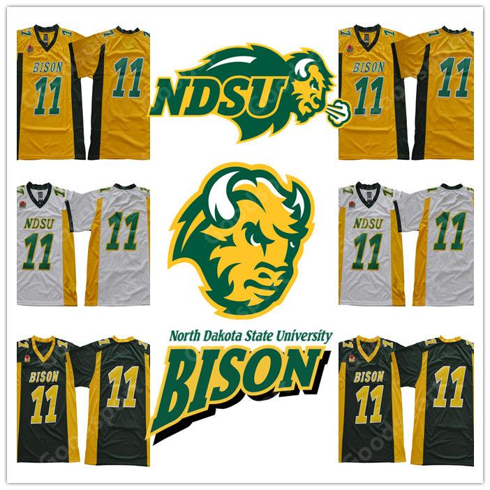 CALIENTE NUEVO North Dakota State University BISON NCAA Jersey 11 Wentz Football Jerseys barato Carson Regalo Retro colección Sport HOT NDSU