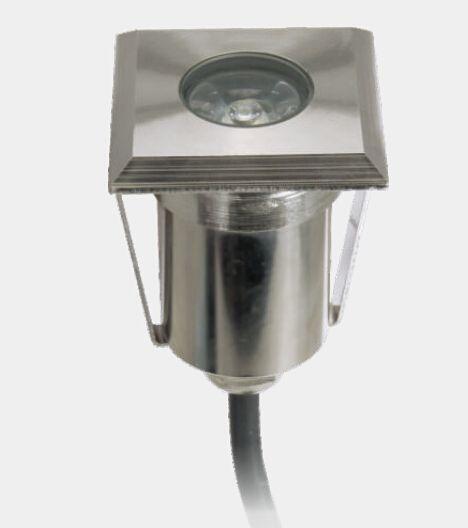 20 pçs / lote LEVOU Lâmpadas Subterrâneas de Aço Inoxidável IP67 LEVOU Luz Subterrânea de Alta Potência 1.5 W Decoração Quadrada LEVOU Passo Lâmpada De Assoalho Ao Ar Livre
