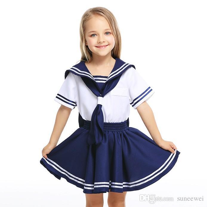 Dziewczyna School Sailor jednolity garnitur JK Student Top Dress Sailor Dress