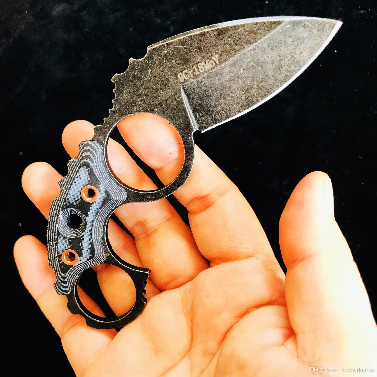 Watchman Small Claw Karambit Fixed Blade Neck knife Straight knife Tactical Hunting Survival EDC Tool Collection Factory sale