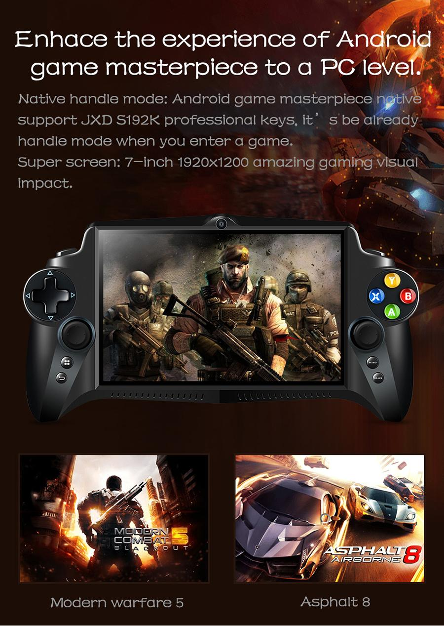 JXD S192K Handheld Game Players 7 Inch RK3288 Quad Core 4G/64GB GamePad  10000mAh Android 5 1 Tablet PC Video Game Console Gaming Console Gaming