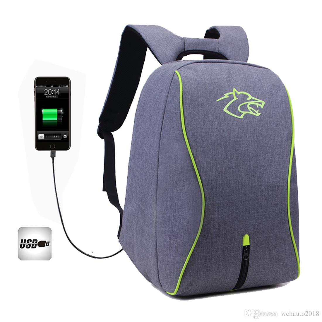 Outdoor Travel Laptop Backpack with USB Port Waterproof Anti-Theft Large Shoulder Bag Daypack College Student Backpack for Man