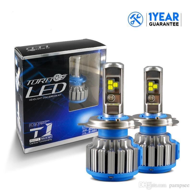2Pcs Auto Scheinwerfer H7 H4 LED H8 / H11 HB3 / 9005 HB4 / 9006 H1 H3 H13 9007 70W 7000lm Auto Glühbirne Scheinwerfer 6000K Licht